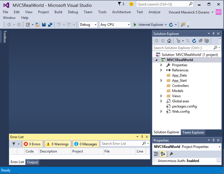 Building Web Application using Entity Framework and MVC 5