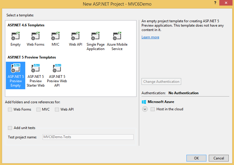 ASP NET 5 - Getting Started with ASP NET MVC 6